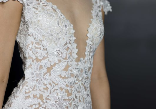 ARIA – A-line Wedding Gown With Cap Sleeves